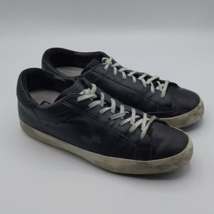 Golden Goose Black Leather Super Stars Size 39